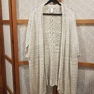 14/16 Avenue Shawl Cardigan Sweater Gray